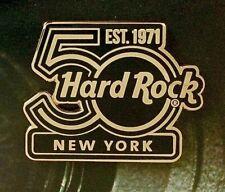 2021 HARD ROCK CAFE NEW YORK 50TH ANNIVERSARY EST. 1971 BLACK & GOLD LOGO LE PIN