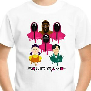 Squid Game T-Shirt Men's Adults Kids Gift Birthday Netflix Fan Gamer Top Tee V4