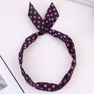 Womens Headband Twist Hairband Bow Knot Cross Tie Velvet Headwrap Hair Hoop A