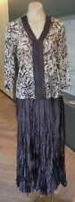Geoff Bade Designer Skirt Suit In Brown & Beige Colour, BNWOT, Size 12, Amazing!