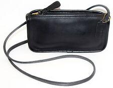 Authentic Vintage COACH Black Leather Top Zipper Shoulder Bag