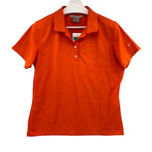 Nike Golf Women's Size XL FITDRY Orange Polo Shirt Short Sleeve 2008 New Vintage