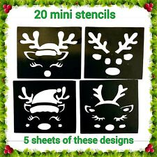 Christmas Glitter Tattoo Cute Reindeer Stencils MINI 20