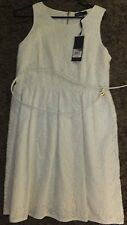 Tokito Cream Fit & Flare Corporate Dress With Belt Size 12 New With Tags