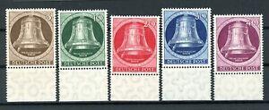 Berlin: Mi.Nr.75/79 Glocke links Randstücke postfrisch. Mi: 100,-