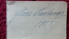 PIANIST GINA BACHAUER AUTOGRAPH 1955