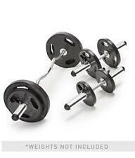Standard Curl Bar & Dumbbell Handle Set w/ 6 Collars Barbell IN HAND SHIPS 2DAY!