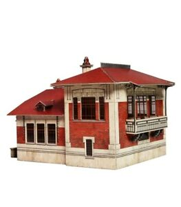 Building Telegraph Post House Railway Train HO Scale 1/87 Model Kit Cardboard 3D