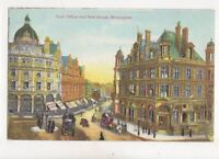 Post Office & New Street Birmingham 1905 Postcard 355b