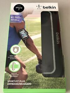 Belkin Sport-Fit Plus Armband for Apple iPhone 7 - Black - Workout Armband   B15