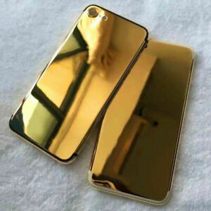 24K Gold Plated Limited Edition Back Housing Frame Cover For iPhone 7 7 Plus New