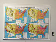 """Nystrom Quillen-Johns Old School Map """"United States Population Distrubution"""""""