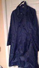 USAF Men Blue Military Full Length Rain Trench Long Coat 38 R