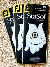 Three Footjoy FJ StaSof Men's Golf Glove Left Hand - Med. Large *NEW*