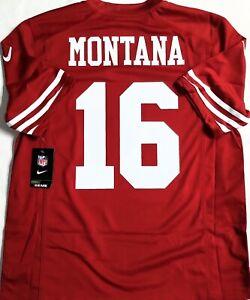 NWT-MEN-LARGE JOE MONTANA SAN FRANSICO 49ers AUTHENTIC LICENSED NFL NIKE JERSEY