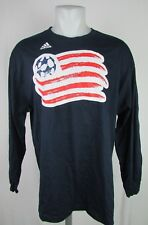 New England Revolution Men MLS Adidas Long Sleeve Graphic T-Shirt