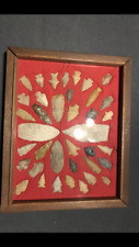 Very Nice Frame of 38 100% Authentic Indian Arrowhead From The Wolf Fam. Coll.