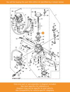 YAMAHA Valve, Throttle, 5EA-14912-10 OEM XJR1300 XVS1100