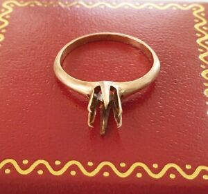 Antique 10k Six Pronged Yellow Gold Mounting