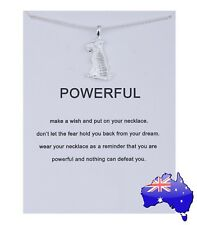 Dogeared Silver POWERFUL Tiger Inspirational Friendship Pendant Necklace Gift