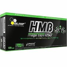 Olimp HMB Mega Caps 1250 MG Anticatabolic Formula Strenght Lean Muscles 120caps