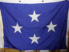 flag813 Us Navy 4 Star Full Admiral flag 61 x 43 rope snap ring Us Flag & Signal