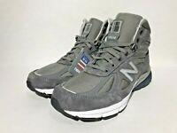 New Balance 990V4 Mid Trail Running Boots Shoes Men Made in USA Sz Grey MO990GR4