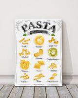 Egg Pasta Chef Kitchen Restaurant Spaghetti Lustucru 16X20 Vint Poster FREE S//H