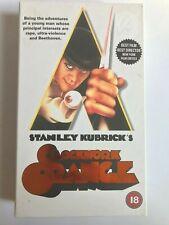 Stanley Kubrick's CLOCKWORK ORANGE - VHS Tape Film 1971