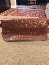Brahmin Small Shoulder Bag Purse Tote Crocodile Embossed Leather (BL)