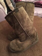 EMU Hi Stinger Brown Boots Size UK 5