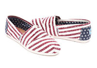 TOMS AMERICANA CANVAS FLAG WOMEN'S CLASSIC SHOES. Style 10007992