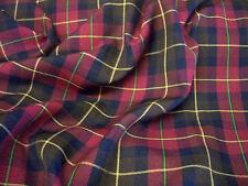 "Tartan Fabric PolyViscose - 59"" (150cm) Wide - 14 Styles - per metre or half"