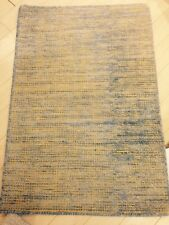 Modern Spectacular Hand Made Area Rug  Soumac Solid Flat Woven New yellow 2x3