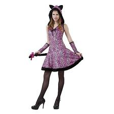 New Pretty Kitty Teen Totally Ghoul Halloween Costume One Size Fits Most