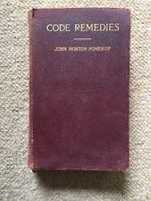 CODE REMEDIES John Norton Pomeroy 1910 4th Ed RARE BOOK