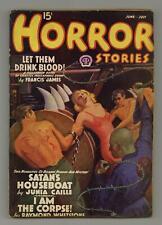 Horror Stories Pulp Jun 1938 #Vol. 7 #1 VG 4.0 TRIMMED