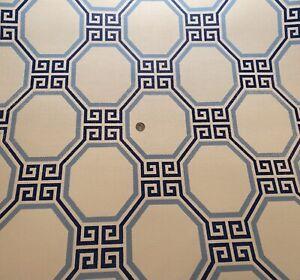 12YD SCHUMACHER 5008890 OCTAVIA Marine Orient Paperweave Wallpaper $1620 Retail