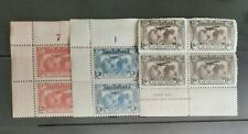More details for australia 1931 stamps in 4 x lightly mounted mint marginal blocks