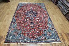 Old Handmade Persian Mahal Rug Great Design & Colour 262 x 155 cm