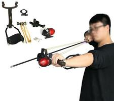 Archery Folding Slingshot Hunting Bow Arrows Shooting Powerful Fish Catapult US