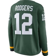 Men's Green Bay Packers Aaron Rodgers Green Therma Long Sleeves Jersey Top Large