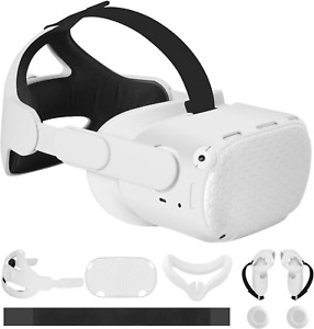 MASiKEN Accessories 6-IN-1 for Oculus Quest 2, Head Strap Replacement Kits, VR F