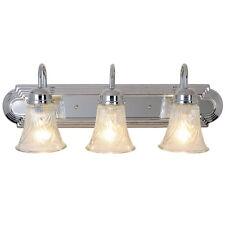Monument Lighting 24in. 3-Light 60-Watt Decorative Vanity Fixture Chrome 671735