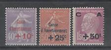 France - 249 à 251 neufs * - Caisse d'Amortissement - C: 107,00 €