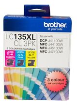 Brother Genuine LC-135XLCL3PK C/M/Y 3 Inks Color Pack For J4110DW J4410DW J4510D