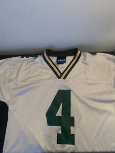 Adidas Green Bay Packers Brett Favre Jersey Size S Polyester White Mens #4 NFL