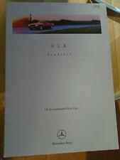 Mercedes SLK Roadster Price List brochure Jan 1997