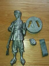 White Metal kit Afghan Fighter appox 150mm tall inc base