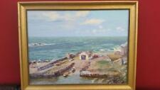 Stunning Oil On Canvas By Nancy Bailey - Northern Ireland Small Harbour Scene